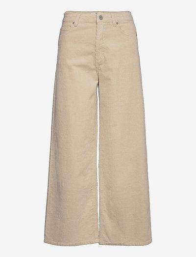 Abby Ankle 393 - vida jeans - winter white corduroy