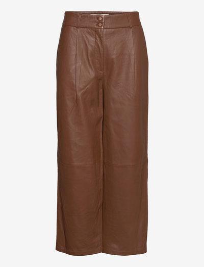 Ellie Crop 635 - skinnbyxor - cognac leather