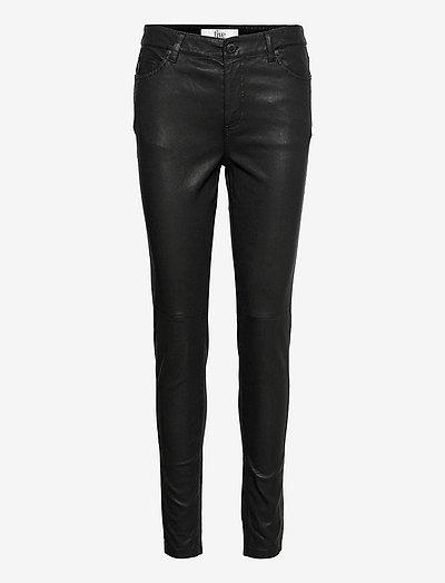 Kate 634 - skinnbyxor - black stretch leather