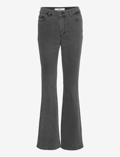 Naomi 241 - utsvängda jeans - stone grey