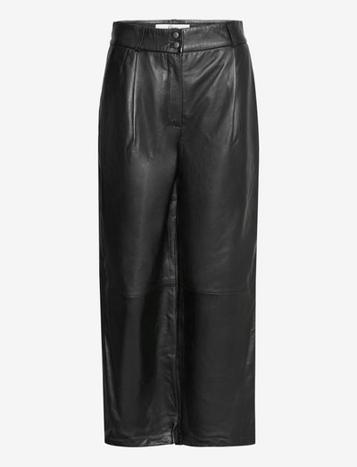 Ellie Crop 635 - skinnbyxor - black leather