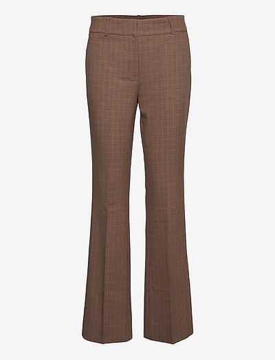 Clara 525 - kostymbyxor - small brown check