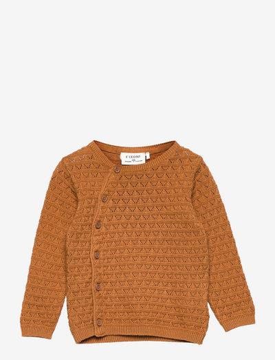 Cardigan Knit - cardigans - almond