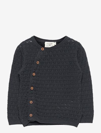 Cardigan Knit - cardigans - ebony