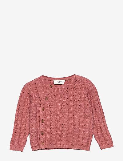 Cardigan Knit - cardigans - old rose