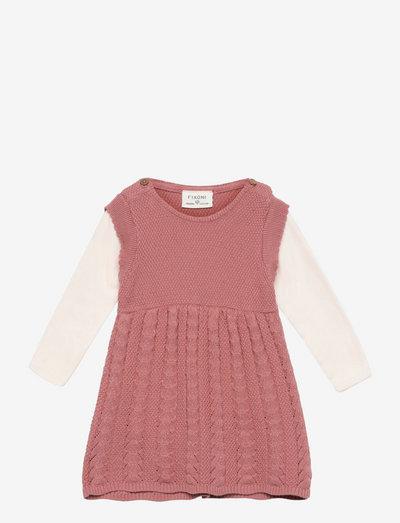 Set w/ Body & Knit Spencer - kjoler - old rose