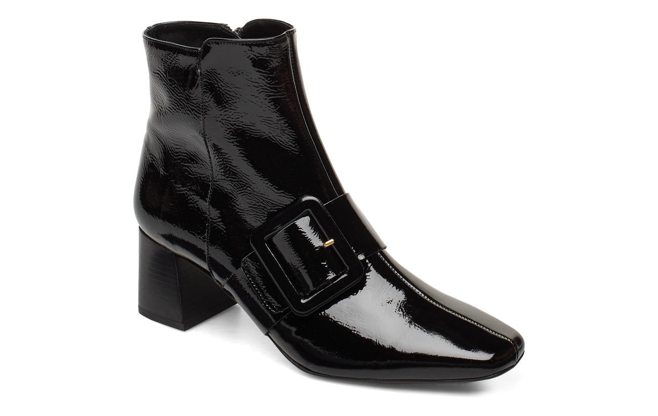 Flattered Mila Patent Nappa Boot - BLACK