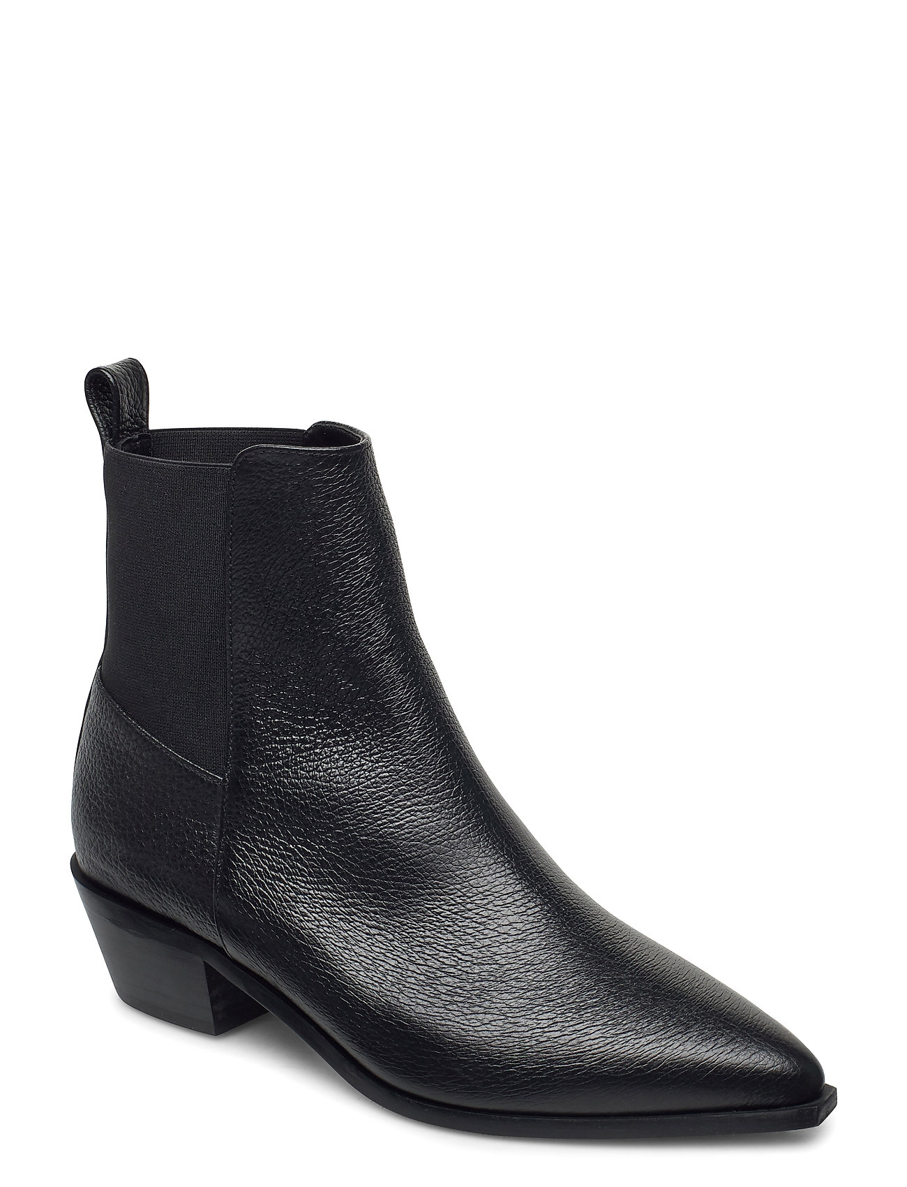 Image of Willow Grained Leather Shoes Boots Ankle Boots Ankle Boot - Heel Sort Flattered (3438366289)