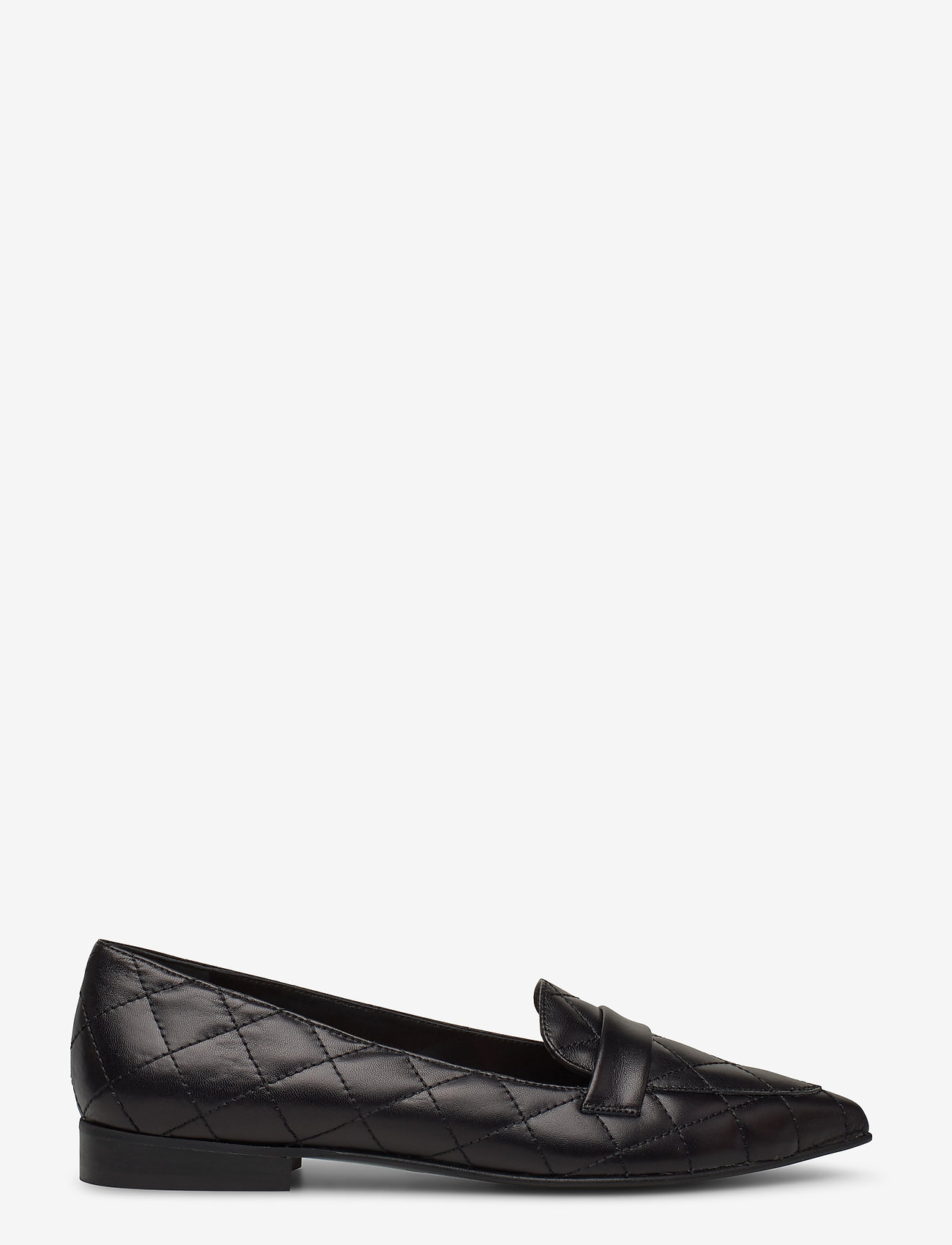 Flattered - Alexandra Black Quilted Leather - mokasyny - black - 1
