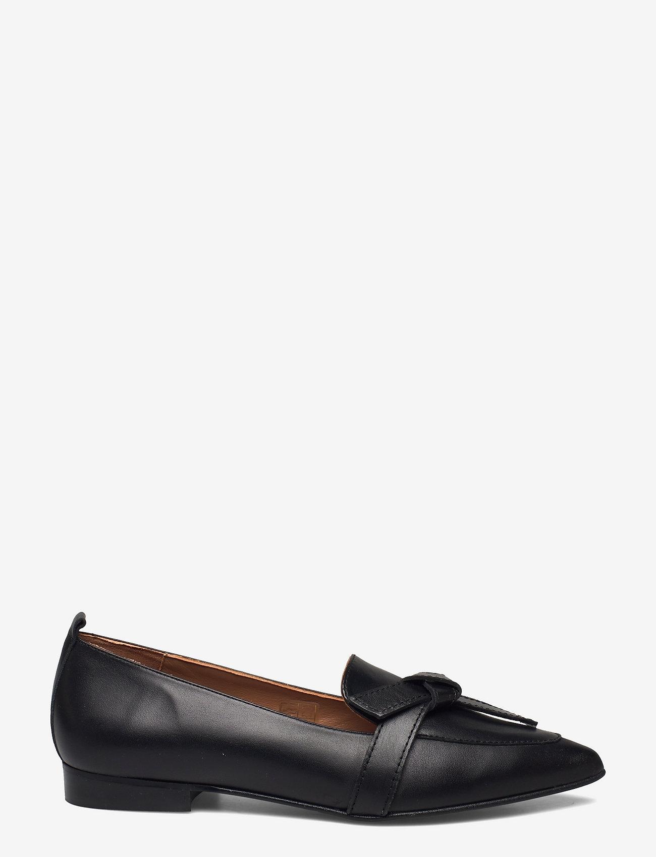 Flattered - Ally Black Grained Leather - mokasyny - black - 1