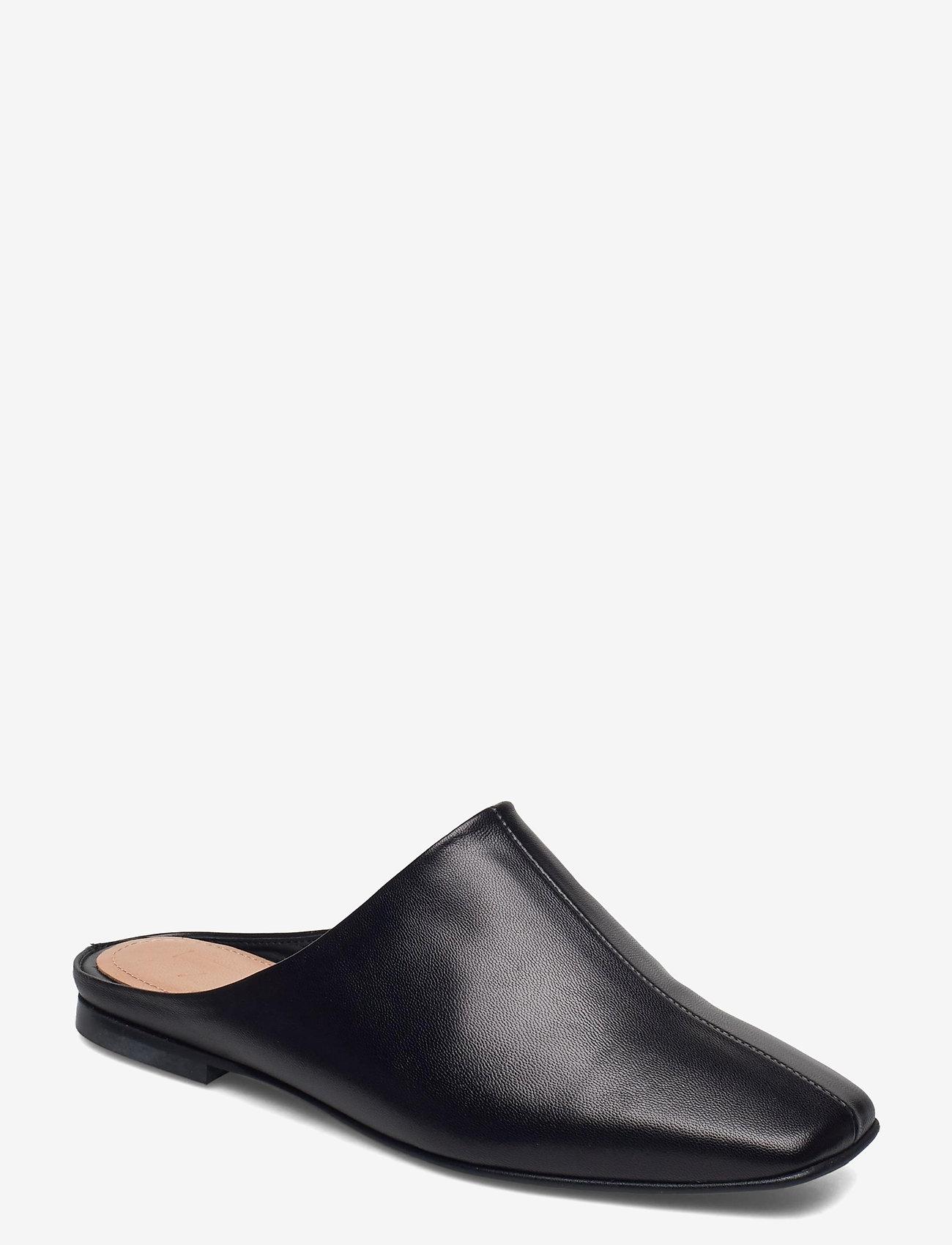 Flattered - Noa Black Leather - mules & slipins - black - 1
