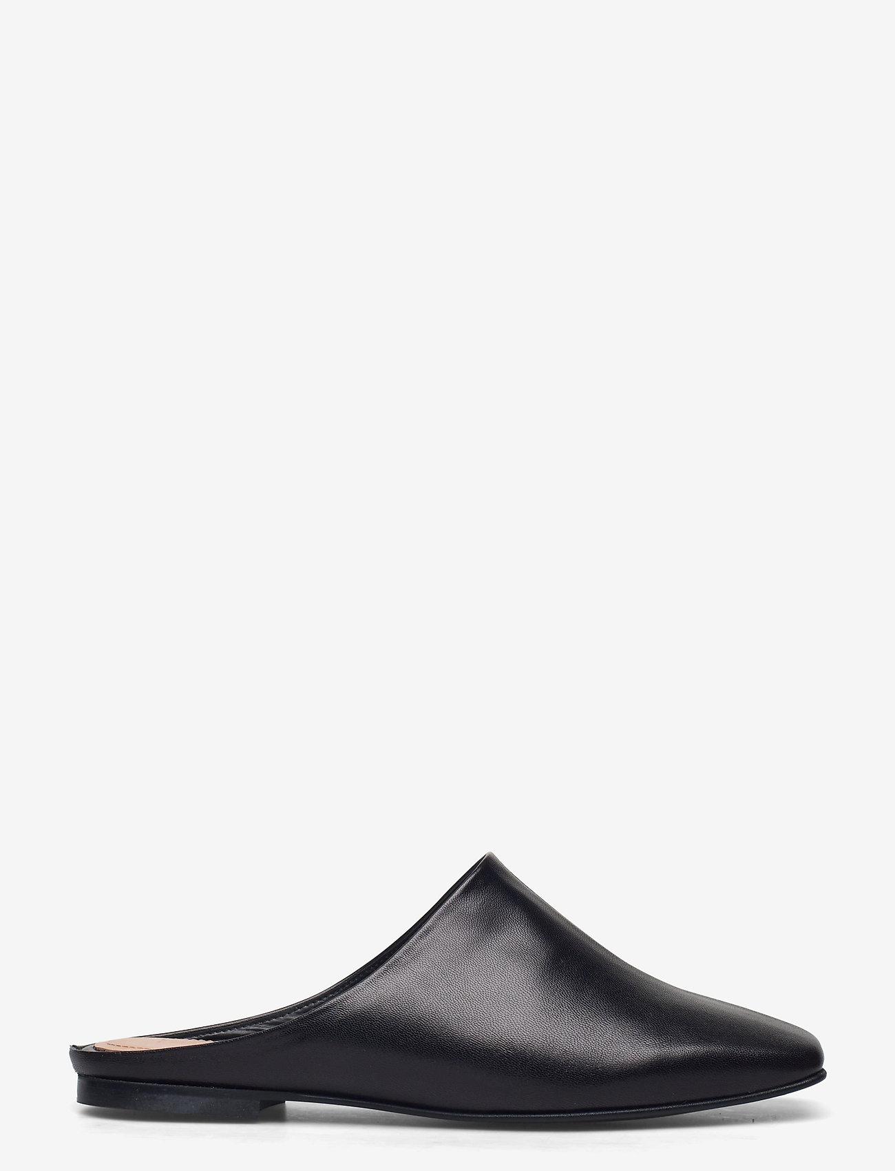 Flattered - Noa Black Leather - mules & slipins - black - 0