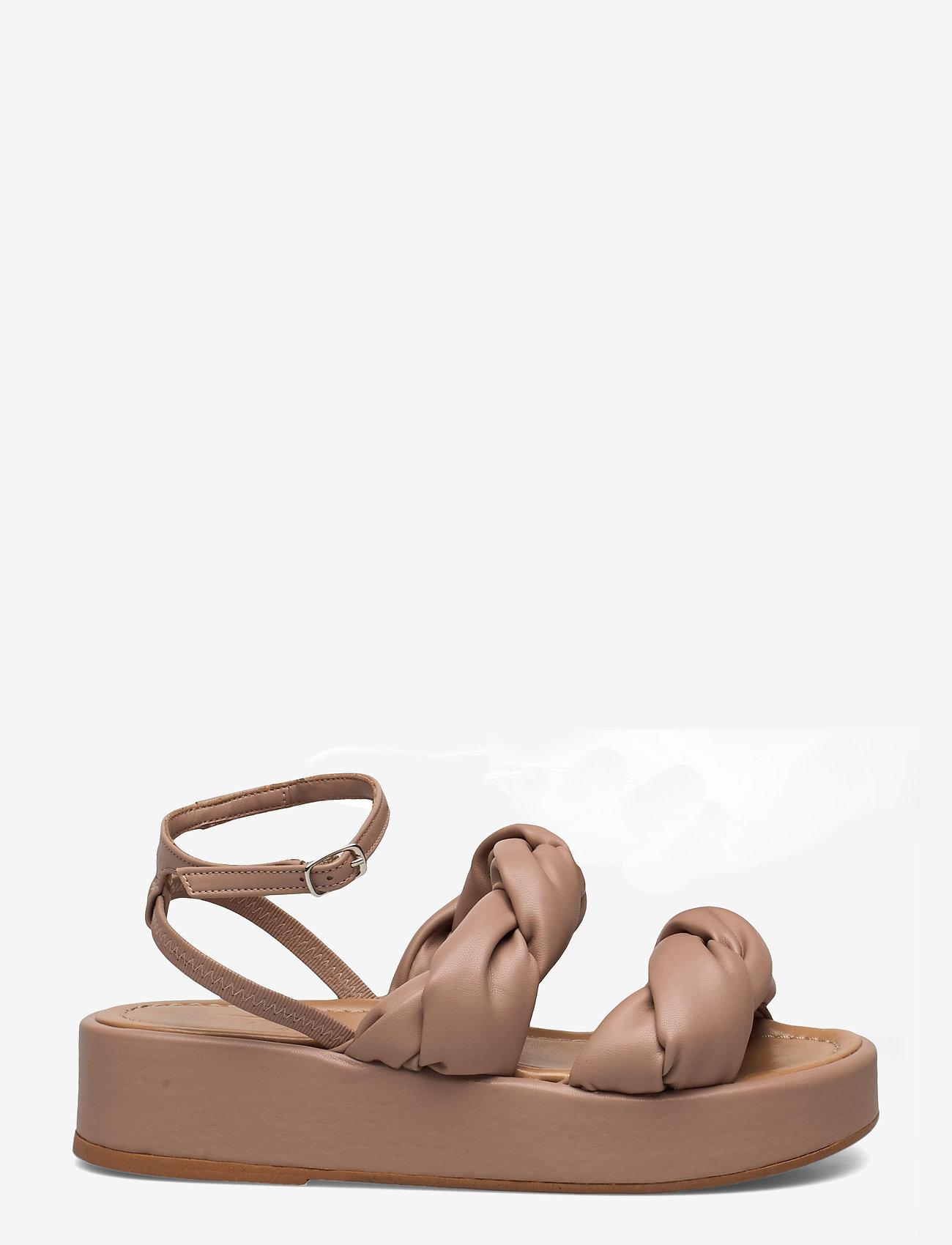 Flattered - Haven Beige Vegan Material - flade sandaler - beige - 1