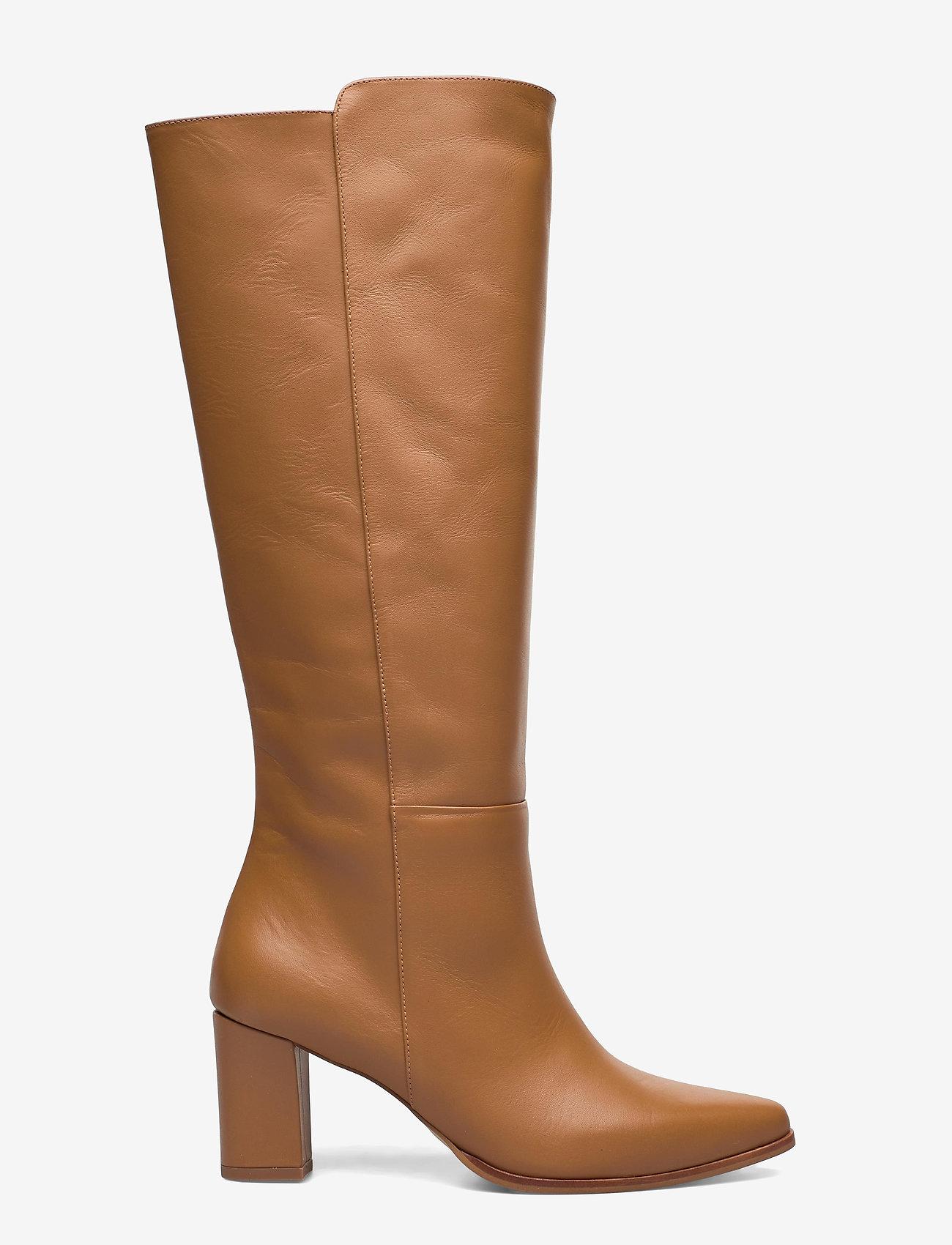 Flattered - Tess Cognac Leather - lange laarzen - cognac - 1