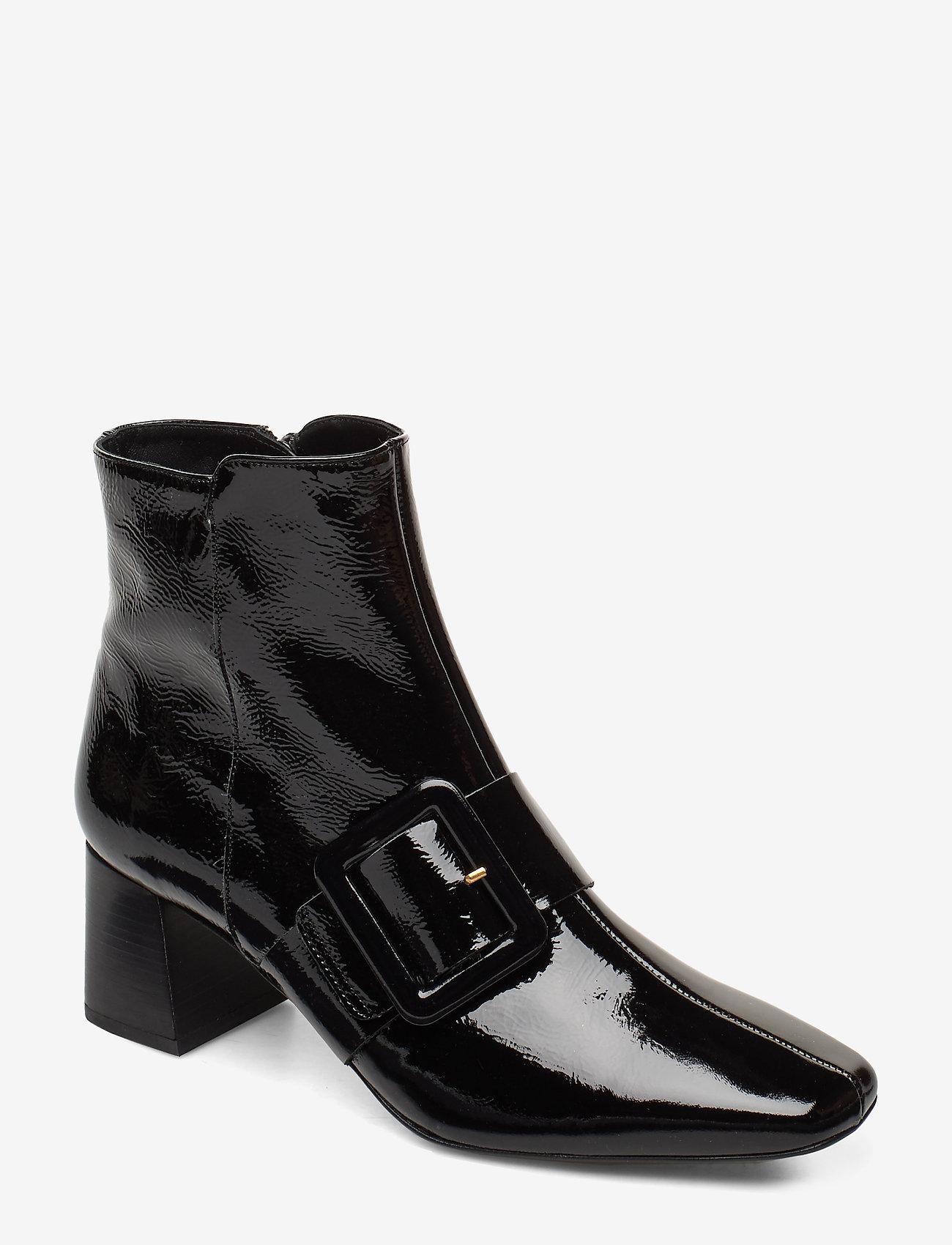 Flattered - Mila Patent Nappa Boot - talon haut - black