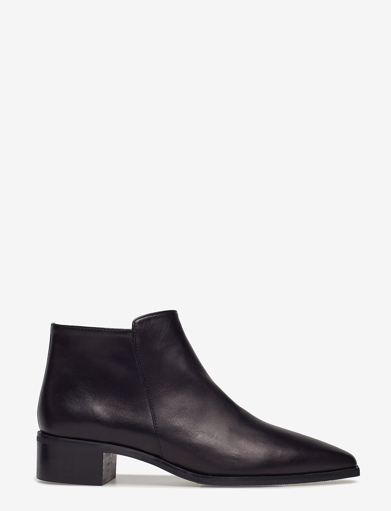 Flattered - Nata Black Nappa - ankle boots with heel - black
