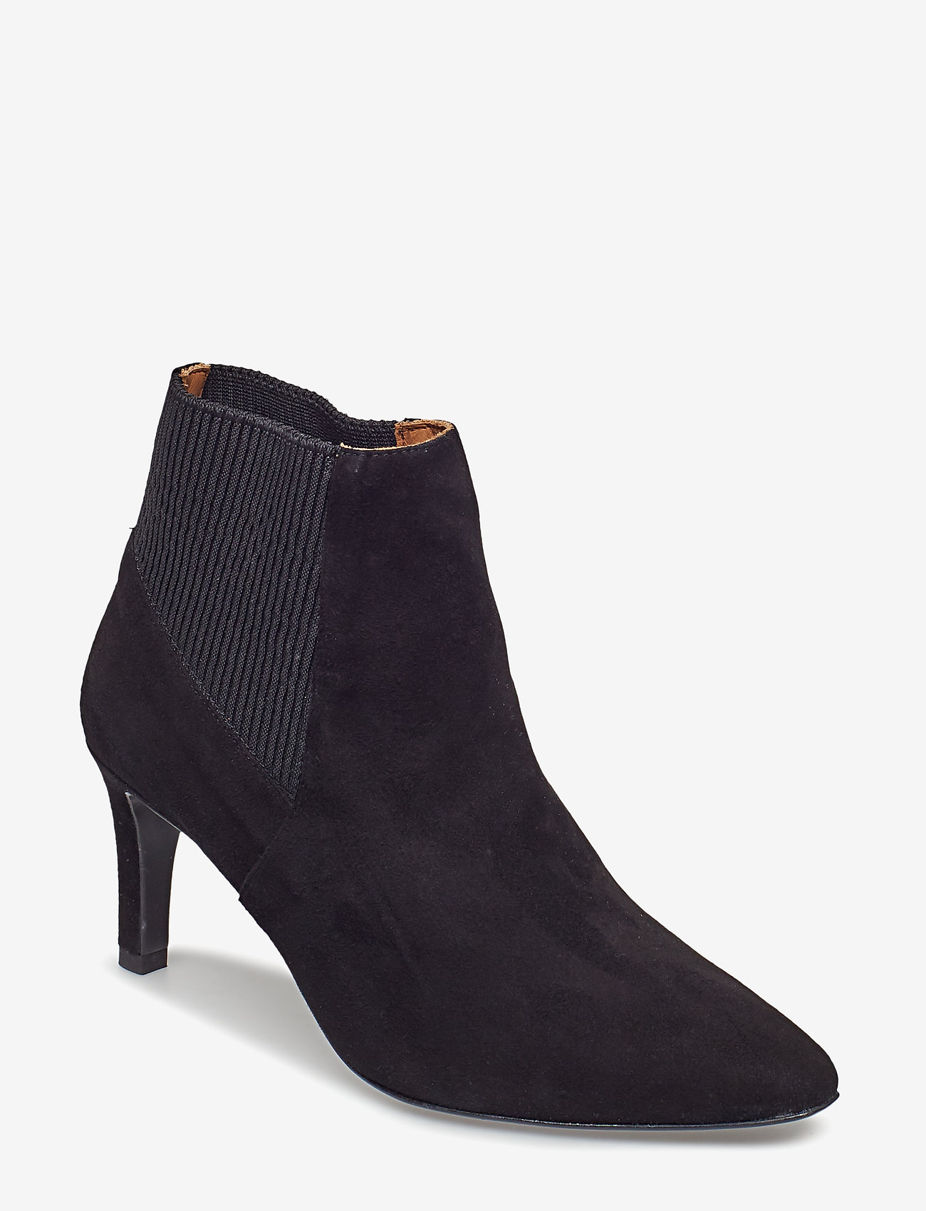 Flattered - Sasha Black Suede - ankle boots with heel - black