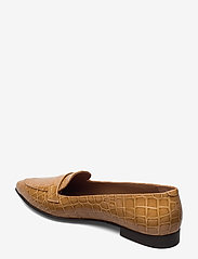 Flattered - Alexandra Shiny Beige Croco Leather - instappers - beige - 2