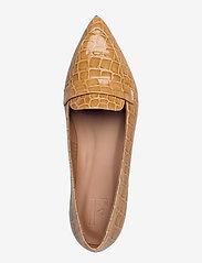 Flattered - Alexandra Shiny Beige Croco Leather - instappers - beige - 3