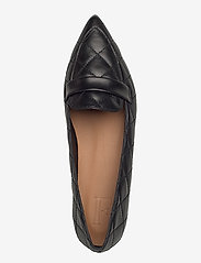 Flattered - Alexandra Black Quilted Leather - mokasyny - black - 3