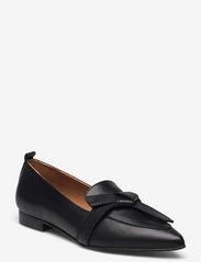 Flattered - Ally Black Grained Leather - mokasyny - black - 0