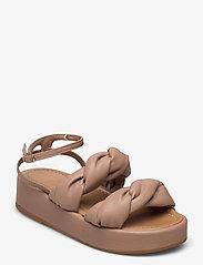Flattered - Haven Beige Vegan Material - flade sandaler - beige - 0