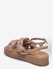 Flattered - Haven Beige Vegan Material - flade sandaler - beige - 2
