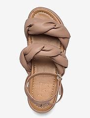 Flattered - Haven Beige Vegan Material - flade sandaler - beige - 3
