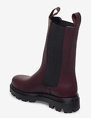 Flattered - Lia Black Leather - platte enkellaarsjes - burgundy - 2