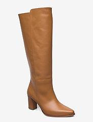 Flattered - Tess Cognac Leather - lange laarzen - cognac - 0