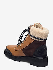 Flattered - Selma Pecan Reptile Leather / Creme Suede / Honey Leather - flat ankle boots - cognac - 2