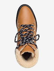 Flattered - Selma Pecan Reptile Leather / Creme Suede / Honey Leather - flat ankle boots - cognac - 3
