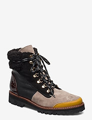 Flattered - Selma Pecan Reptile Leather / Creme Suede / Honey Leather - flat ankle boots - multicolor - 1