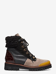 Flattered - Selma Pecan Reptile Leather / Creme Suede / Honey Leather - flat ankle boots - multicolor - 0
