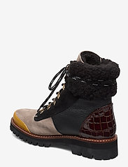 Flattered - Selma Pecan Reptile Leather / Creme Suede / Honey Leather - flat ankle boots - multicolor - 2