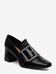 Flattered - Lily Leather Pump - classic pumps - black nappa - 0