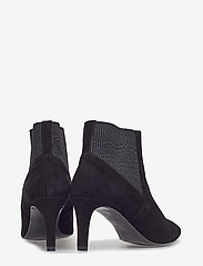 Flattered - Sasha Black Suede - ankle boots with heel - black - 4
