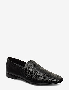 Viola Black Leather - loafers - black