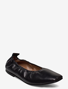 Nadine Black Leather - ballerinas - black
