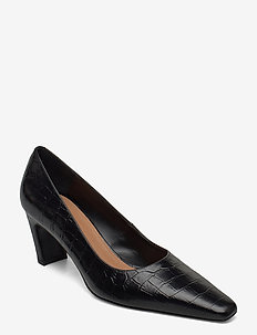 Iggy Black Croco Leather - classic pumps - black