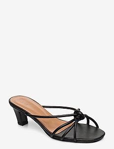 Eunice Black Nappa - mules & slipins - black