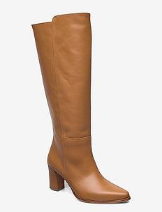 Tess Cognac Leather - høye boots - cognac