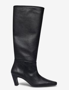 Ingela Black Leather - höga stövlar - black