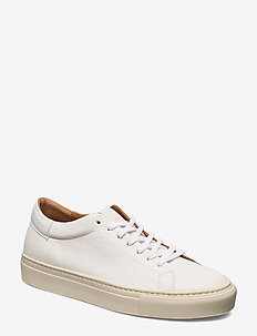 Stockholm White Leather Sneaker - low top sneakers - white