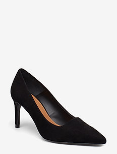 Charlie Suede Pump - BLACK