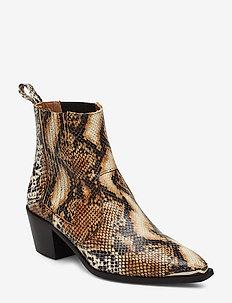 Rebecca Snake Nappa Boot - SAND