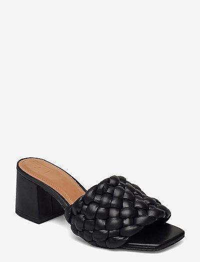 Odessa Black Leather - sandalen met hak - black
