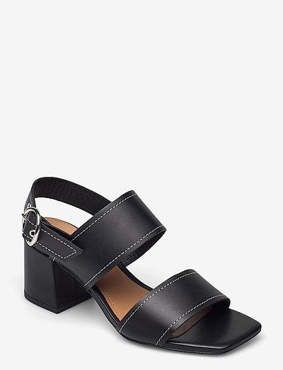 Odina Leather - sandalen met hak - black