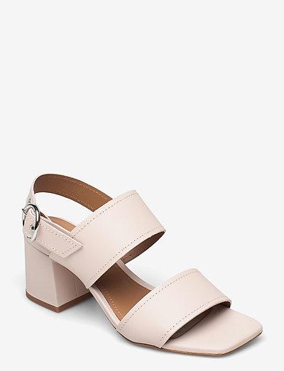 Odina Leather - sandalen met hak - pale pink