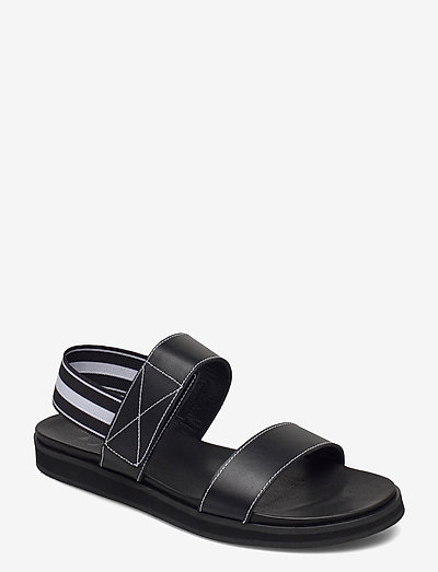 Lissy Black Leather - platte sandalen - black